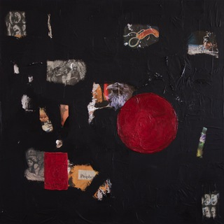 circle I, 2010  100x100cm, mixed media on canvas