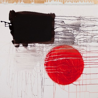 circle III, 2010  100x100cm, mixed media on canvas