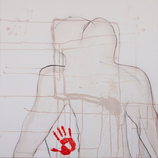 untitled bottom, 2010,   100x200cm, dyptich, mixed media on canvas