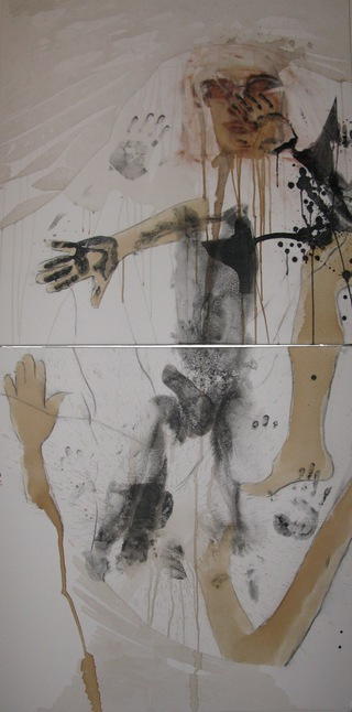 untitled, 2010  100x200cm, dyptich, mixed media on canvas
